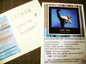 "invitation ""epic win party"""